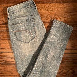 Bullhead skinny paisley jeans Sz 9